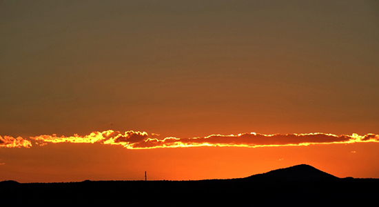 Sunset in Taos: Simple, Serene, Stunning