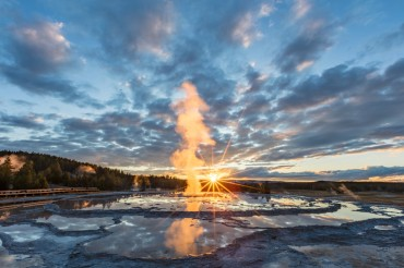 Sunset at Yellowstone National Park