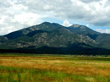 Taos Mountain Over High Grass Meadow